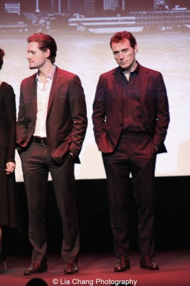Luke Kleintank, Rufus Sewell attend the episode screening and premiere for the Amazon Originals Series 'The Man in the High Castle' at Alice Tully Hall on November 2, 2015. Photo by Lia Chang