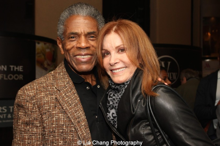 André De Shields and Stefanie Powers at 'On Your Feet!' at the Marquis Theatre in New York on November 4, 2015. Photo by Lia Chang