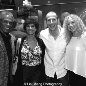André De Shields, Nancy Ticotin, Murphy Cross at 'On Your Feet!' at the Marquis Theatre in New York on November 4, 2015. Photo by Lia Chang
