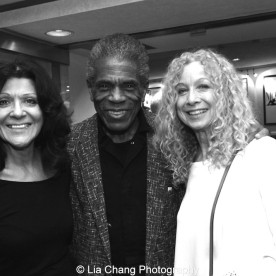 Lenora Nemetz, André De Shields and Murphy Cross at 'On Your Feet!' at the Marquis Theatre in New York on November 4, 2015. Photo by Lia Chang