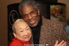 Lori Tan Chinn and André De Shields at 'On Your Feet!' at the Marquis Theatre in New York on November 4, 2015. Photo by Lia Chang