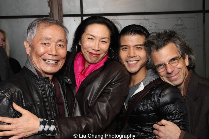 George Takei, Jodi Long, Telly Leung and Marc Acito. Photo by Lia Chang