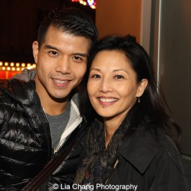 Telly Leung and Tamlyn Tomita. Photo by Lia Chang