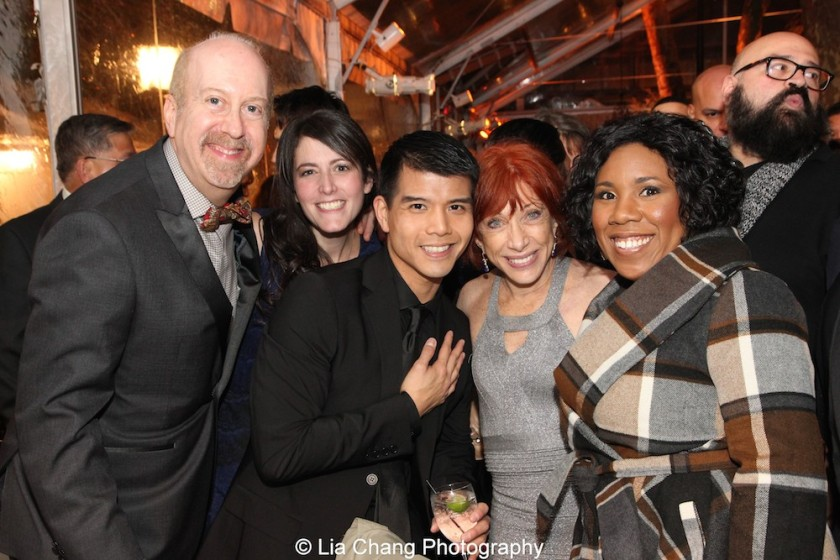 Matthew Woolf, Ilana Kameros, Telly Leung, Joan Sittenfield and Melinda Doolittle. Photo by Lia Chang