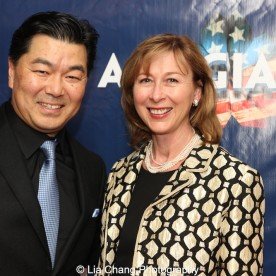 Christopheren Nomura and Judy Nunn. Photo by Lia Chang