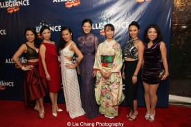 Catherine Ricafort, Janelle Dote, Elena Wang, Manna Nichols, Rumi Oyama, Belinda Allyn and Momoko Sugai. Photo by Lia Chang