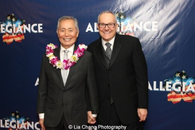 George Takei and Brad Takei at the opening night party of 'Allegiance' at Bryant Park Grill in New York on November 8, 2015. Photo by Lia Chang