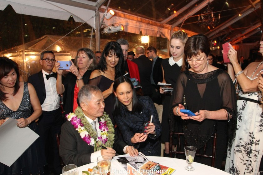 George Takei and fans. Photo by Lia Chang