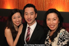 Kim Varhola with her husband Michael K. Lee and Jodi Long. Photo by Lia Chang