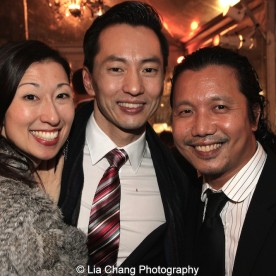 Kim Varhola with her husband Michael K. Lee and Victor Lirio. Photo by Lia Chang