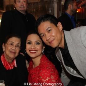 Lea Salonga with her mother Ligaya Alcantara Imutan and her husband Robert Chien. Photo by Lia Chang