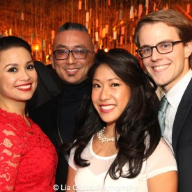 Lea Salonga, Paul Nakauchi, Kay Trinidad and Mike Karns at the opening night party of ALLEGIANCE on November 8, 2015. Photo by Lia Chang