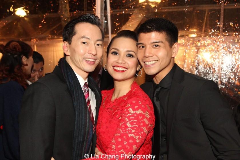 Michael K. Lee, Lea Salonga and Telly Leung. Photo by Lia Chang