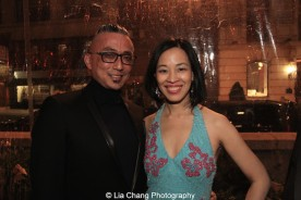 Paul Nakauchi and Lia Chang at the opening night party of ALLEGIANCE on November 8, 2015. Photo by Garth Kravits