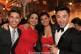 Sam Tanabe, Lea Salonga, Liz Casasola, Guest. Photo by Lia Chang