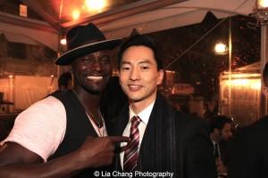 Taye Diggs and Michael K. Lee. Photo by Lia Chang