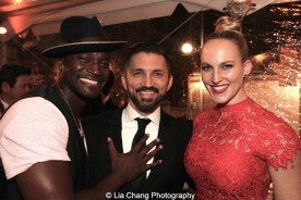 Taye Diggs, Andrew Palermo and Samantha Jo Palermo. Photo by Lia Chang