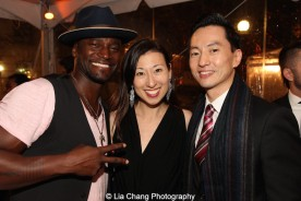 Taye Diggs, Kim Varhola and Michael K. Lee. Photo by Lia Chang