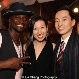 Taye Diggs, Kim Varhola and Michael K. Lee. Photo by Lia Chang