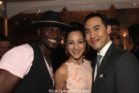 Taye Diggs, Sheridan Mouawad and Marcus Choi. Photo by Lia Chang