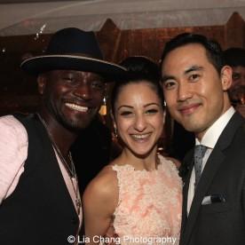 Taye Diggs, Sheridan Mouawad and Marcus Choi. Photo by Lia Chang