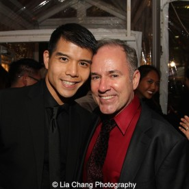 Telly Leung and Stephen Flaherty. Photo by Lia Chang