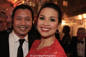Victor Lirio and Lea Salonga. Photo by Lia Chang