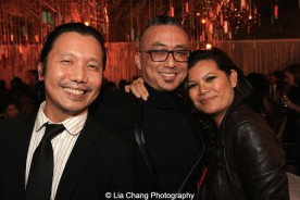 Victor Lirio, Paul Nakauchi and Liz Casasola. Photo by Lia Chang