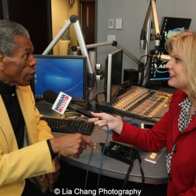André De Shields with WBBMNewsradio's Lisa Fielding in Chicago on November 9, 2015. Photo by Lia Chang