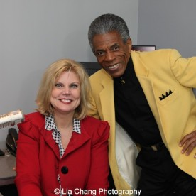 WBBMNewsradio's Lisa Fielding and André De Shields in Chicago on November 9, 2015. Photo by Lia Chang