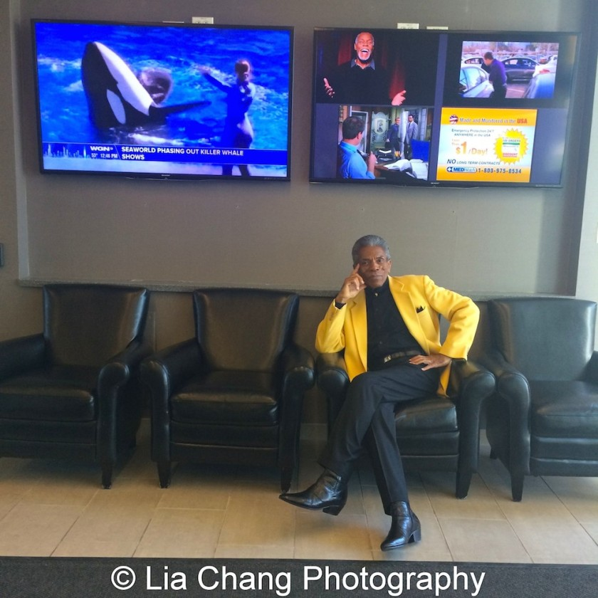 André De Shields at the WGN Studios in Chicago on November 9, 2015. Photo by Lia Chang