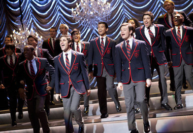 """The Warblers performed Train's """"Hey Soul Sister"""" at the Sectionals competition in the """"Special Education"""" episode. Photo: Fox"""