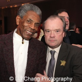 André De Shields with Chris Jones, Chicago Tribune theater critic, at the 27th Annual Awards for Excellence in the Arts Gala held in the Atlantic Ballroom of the Radisson Blue Aqua Hotel in Chicago on November 9, 2015. Photo by Lia Chang