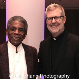André De Shields with Rev. Dennis H. Holtschneider, C.M., President, DePaul University at the 27th Annual Awards for Excellence in the Arts Gala held in the Atlantic Ballroom of the Radisson Blue Aqua Hotel in Chicago on November 9, 2015. Photo by Lia Chang
