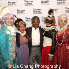 André De Shields and Theatre School students at the 27th Annual Awards for Excellence in the Arts Gala held in the Atlantic Ballroom of the Radisson Blue Aqua Hotel in Chicago on November 9, 2015. Photo by Lia Chang
