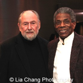 Dennis Zacek and André De Shields at the 27th Annual Awards for Excellence in the Arts Gala held in the Atlantic Ballroom of the Radisson Blue Aqua Hotel in Chicago on November 9, 2015. Photo by Lia Chang