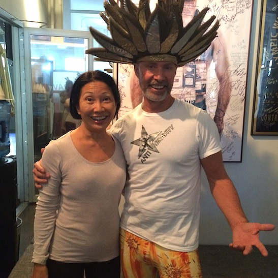 Suzen Murakoshi and Anti-Gravity Yoga founder, Christopher Harrison on Halloween. Photo by Carol Nakamoto