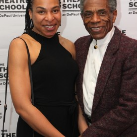 Honorees Karen Aldridge and André De Shields at the 27th Annual Awards for Excellence in the Arts Gala held in the Atlantic Ballroom of the Radisson Blue Aqua Hotel in Chicago on November 9, 2015. Photo by Lia Chang
