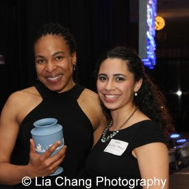 Karen Aldridge and Paola Sanchez Abreu at the 27th Annual Awards for Excellence in the Arts Gala held in the Atlantic Ballroom of the Radisson Blue Aqua Hotel in Chicago on November 9, 2015. Photo by Lia Chang