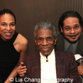Karen Aldridge with André De Shields and her husband Eddie Torres at the 27th Annual Awards for Excellence in the Arts Gala held in the Atlantic Ballroom of the Radisson Blue Aqua Hotel in Chicago on November 9, 2015. Photo by Lia Chang