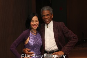 Lia Chang and André De Shields at the 27th Annual Awards for Excellence in the Arts Gala held in the Atlantic Ballroom of the Radisson Blue Aqua Hotel in Chicago on November 9, 2015. Photo by Lia Chang