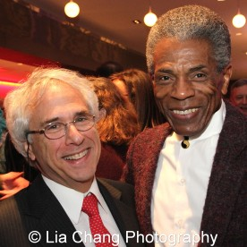 Honorees Lou Raizin, Broadway in Chicago president, and André De Shields at the 27th Annual Awards for Excellence in the Arts Gala held in the Atlantic Ballroom of the Radisson Blue Aqua Hotel in Chicago on November 9, 2015. Photo by Lia Chang
