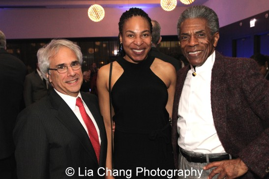 Honorees Lou Raizin, Broadway in Chicago president, Theatre School Alumna Karen Aldridge and André De Shields at the 27th Annual Awards for Excellence in the Arts Gala held in the Atlantic Ballroom of the Radisson Blue Aqua Hotel in Chicago on November 9, 2015. Photo by Lia Chang
