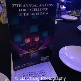 The 27th Annual Awards for Excellence in the Arts Gala held in the Atlantic Ballroom of the Radisson Blue Aqua Hotel in Chicago on November 9, 2015. Photo by Lia Chang