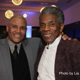 Ron OJ Parsons and André De Shields at the 27th Annual Awards for Excellence in the Arts Gala held in the Atlantic Ballroom of the Radisson Blue Aqua Hotel in Chicago on November 9, 2015. Photo by Lia Chang
