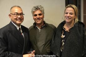 Arlan Huang, Nick Argyrou and Erika Kipreos. Photo by Lia Chang