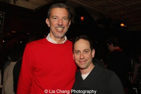Alex Fraser, Producing Director of Bucks County Playhouse and Garth Kravits at the holiday party at The Raven in New Hope, PA on December 16, 2015. Photo by Lia Chang