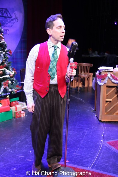 Garth Kravits at the mic at Bucks County Playhouse in New Hope, PA on December 16, 2015. Photo by Lia Chang