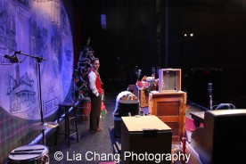 Garth Kravits on set at Bucks County Playhouse in New Hope, PA on December 16, 2015. Photo by Lia Chang