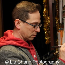 Garth Kravits signing in at Bucks County Playhouse in New Hope, PA on December 16, 2015. Photo by Lia Chang